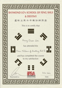 4 Pillars of Destiny Certificate